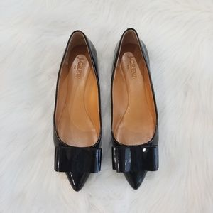 J. Crew Patent Leather Bow Flats